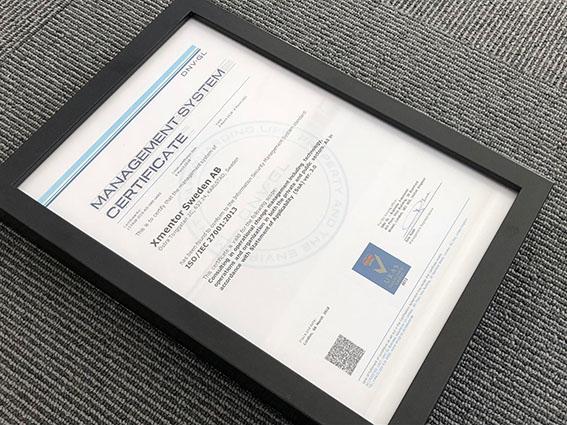 Xmentor är certifierade för ISO 27001